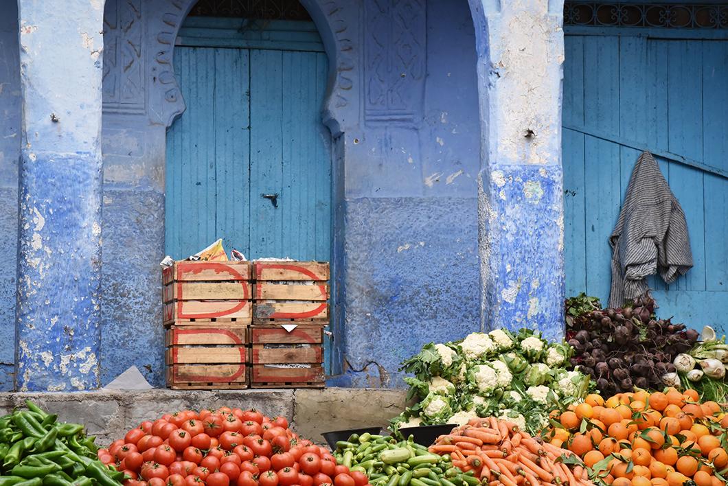 Marché de Chefchaouen au Maroc