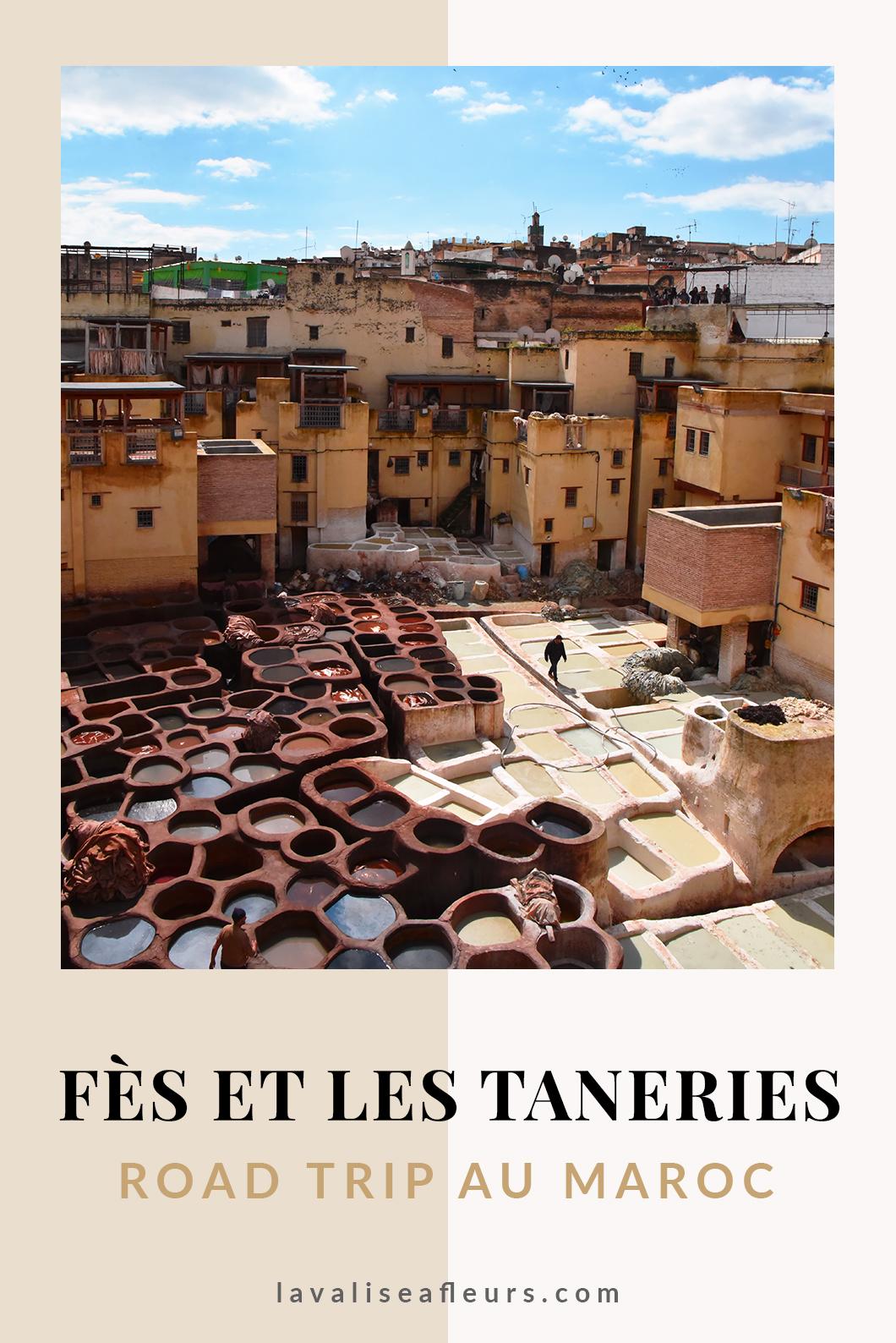 Fès et ses tanneries, road trip au Maroc