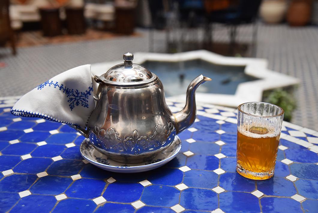 Prendre le thé au Riad Zamane Fès