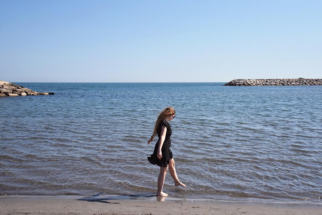La plage-est aux Saintes-Maries-de-la-mer - Un week end en Camargue