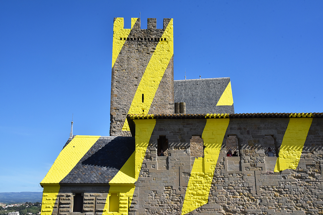 Felice Varini - Un week end insolite à Carcassonne