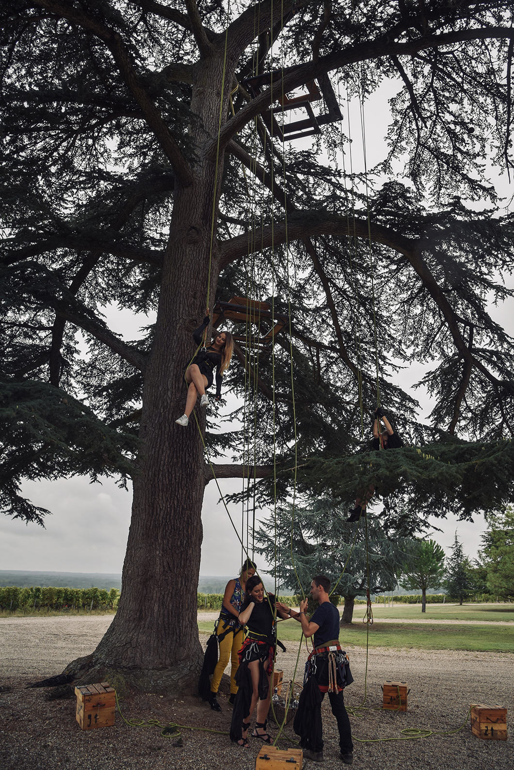 Dégustation perchée au Château de Rayne Vigneau - Activité insolite sur la Route des Vins de Bordeaux