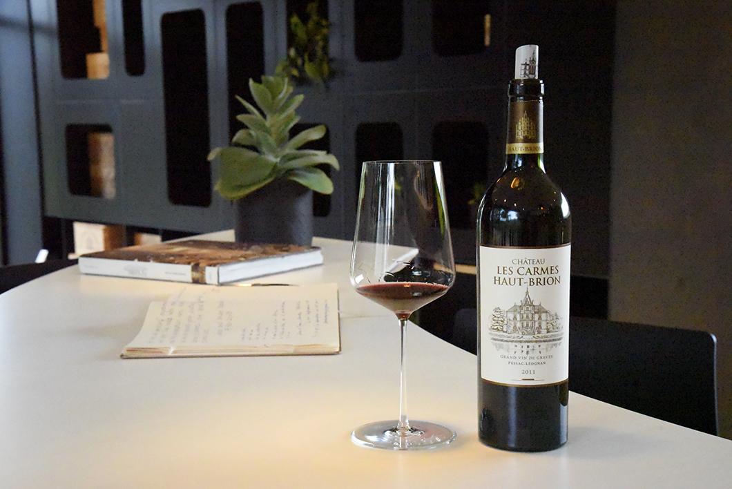Dégustation de vin au Château les Carmes Haut-Brion