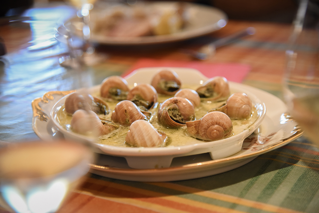 Atelier de cuisine escargot