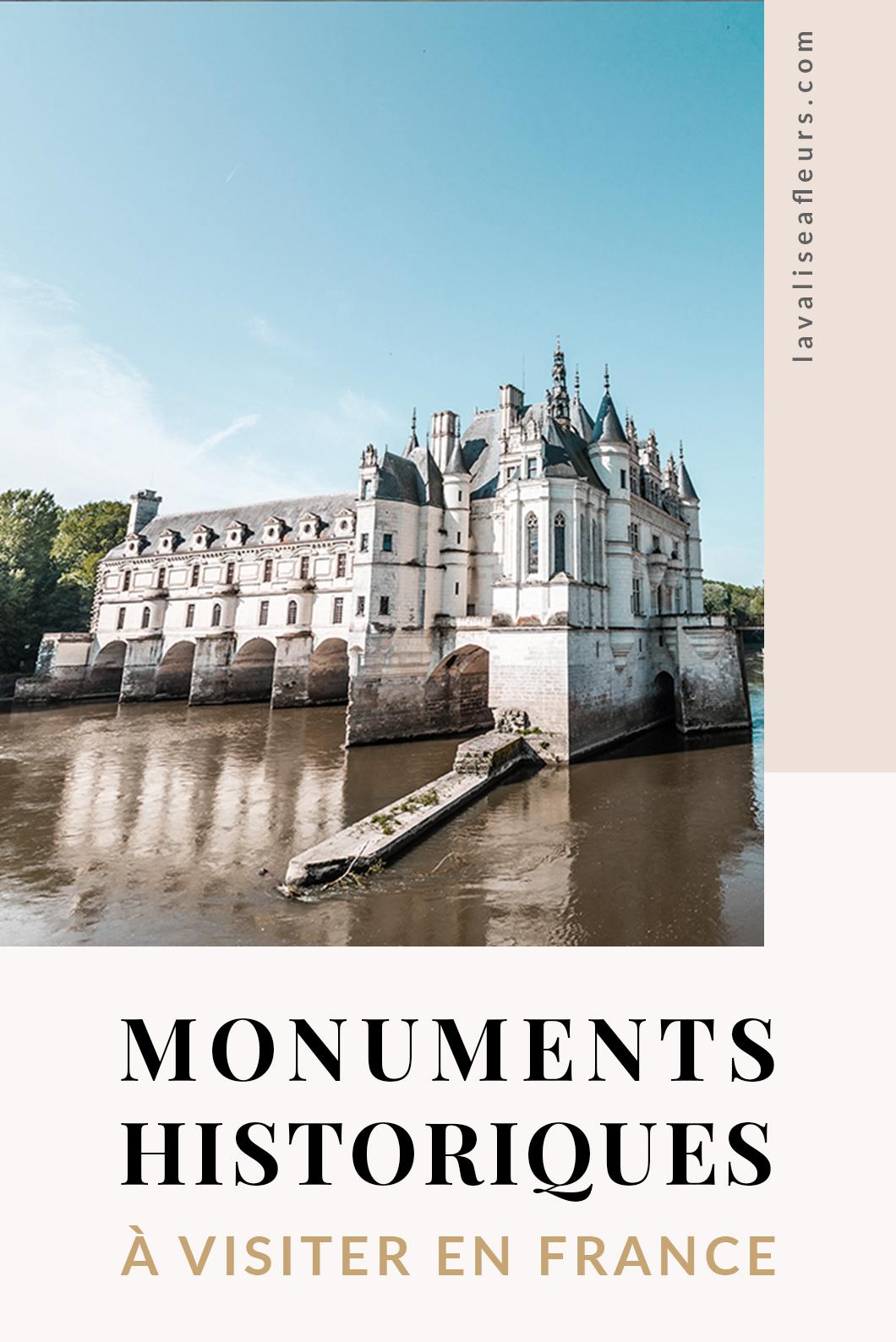 5 monuments historiques à visiter en France