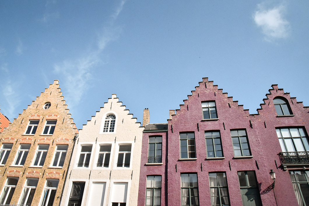 Les belles façades de Bruges
