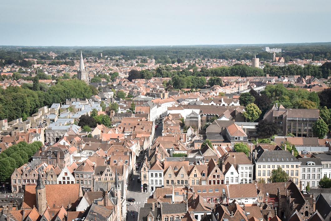 Vue depuis le Beffroi de Bruges