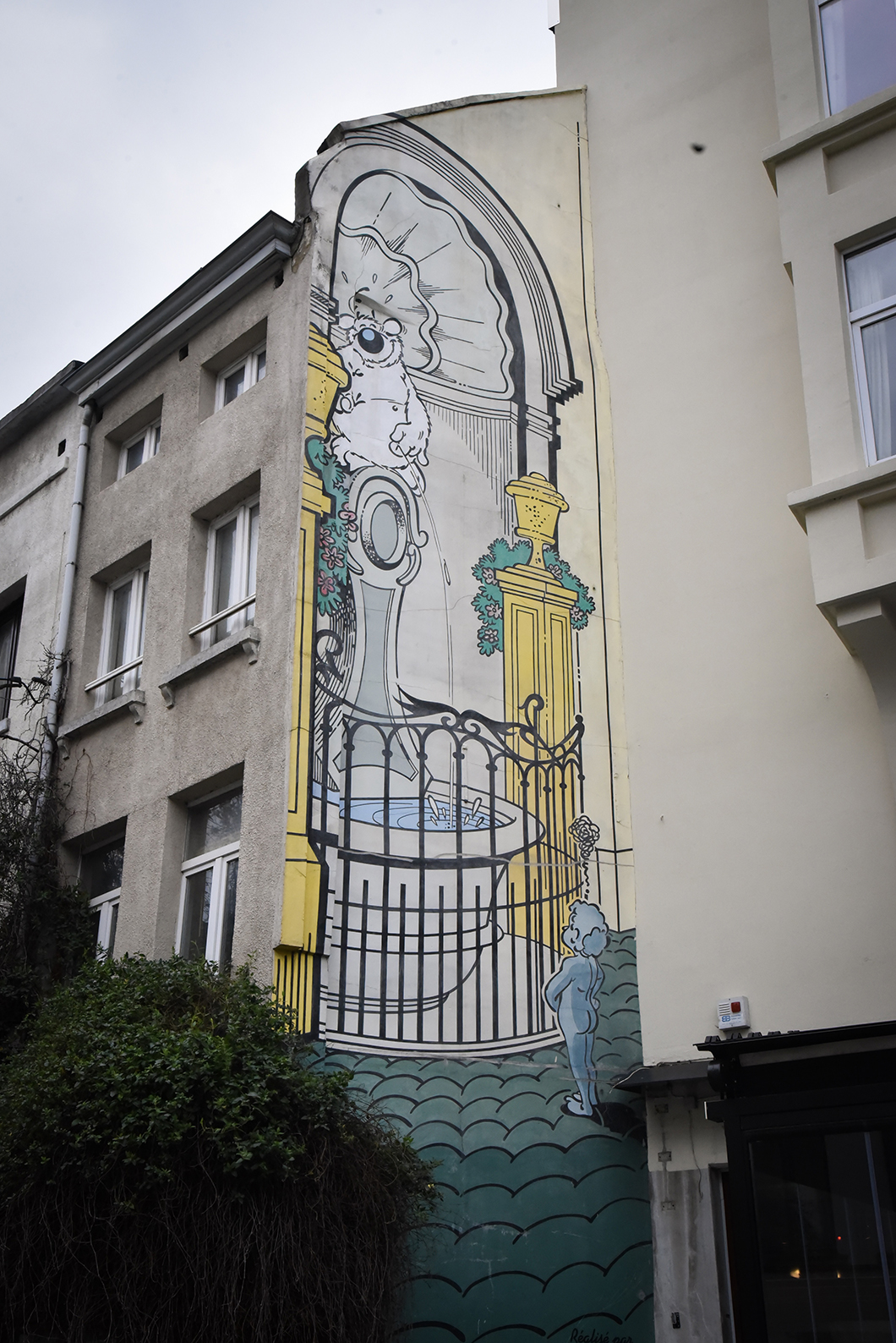 BG graffiti à Bruxelles