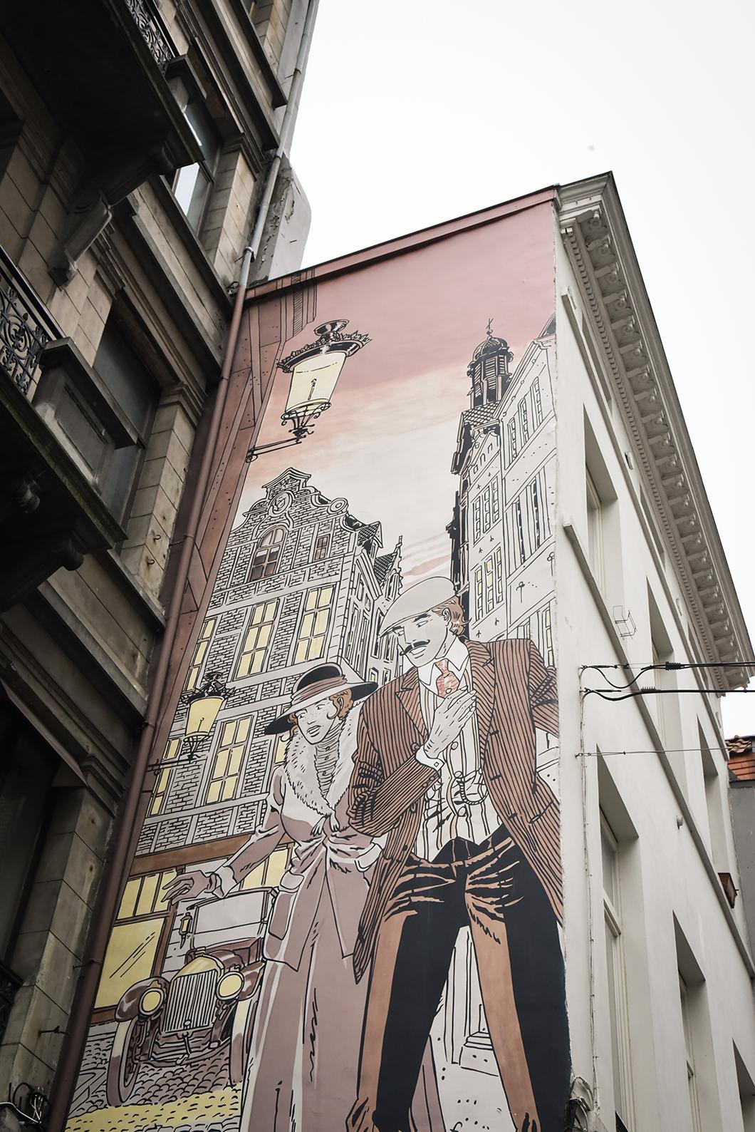 A la recherche des BD murales à Bruxelles