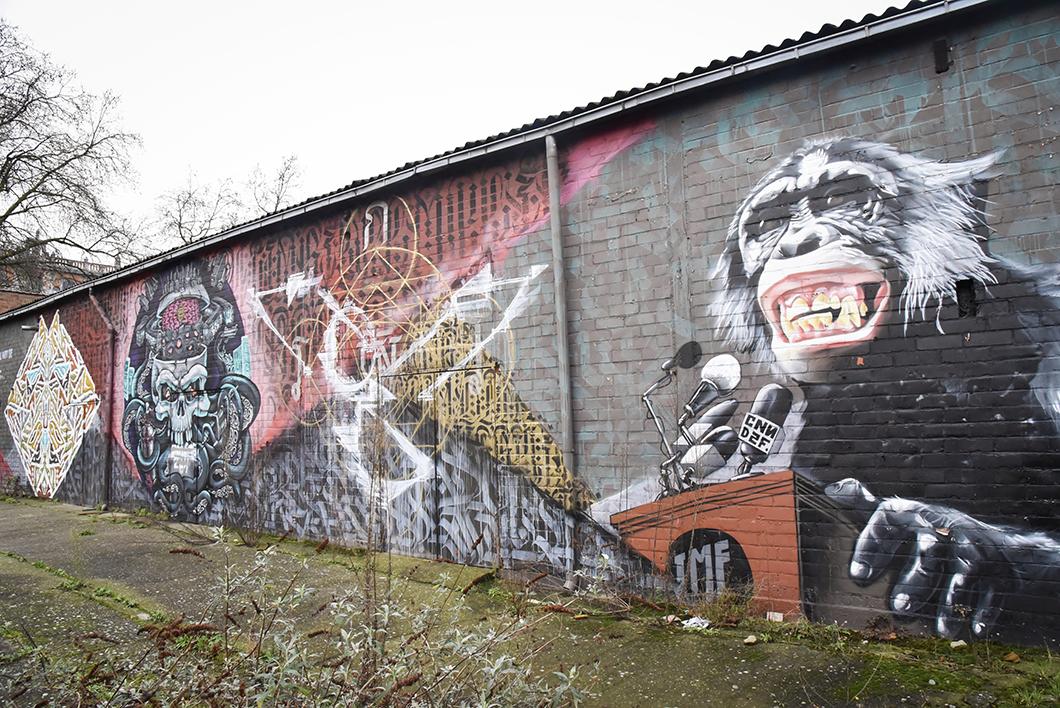 Les plus beaux graffitis de Bruxelles - Allée Du Kaai