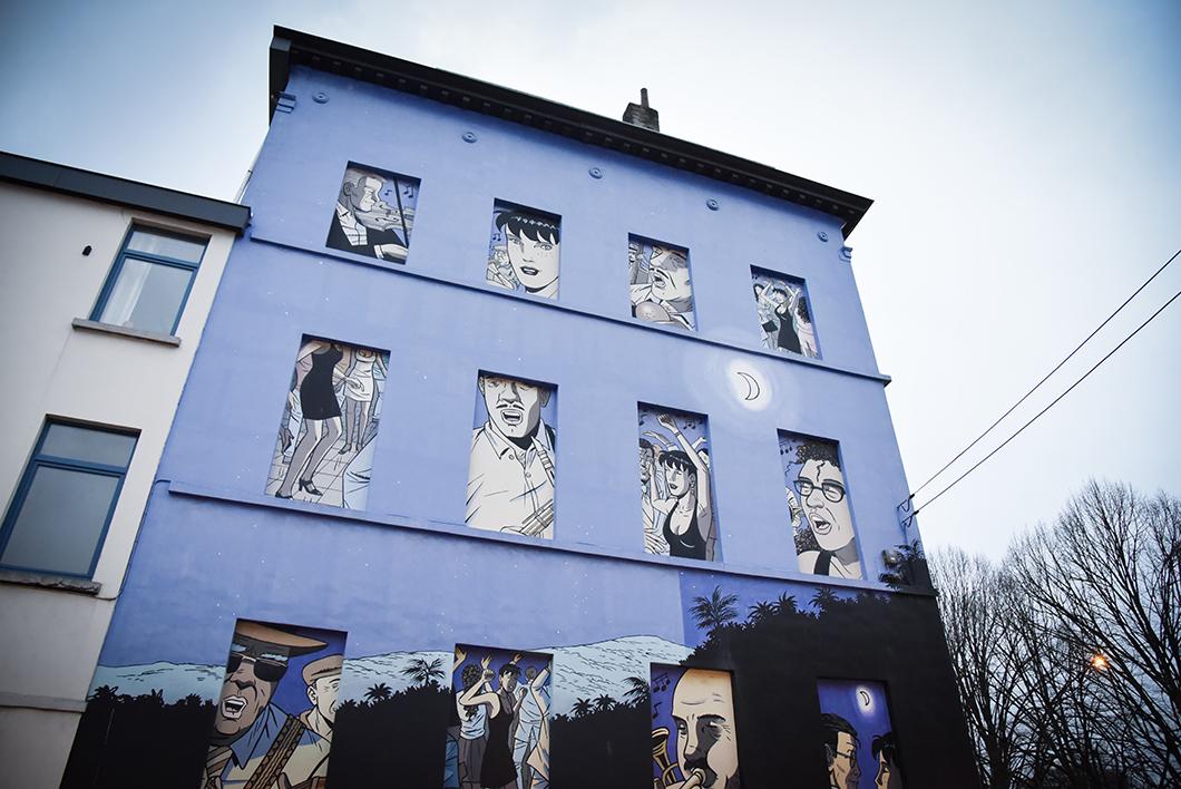 Parcours des BD murales à Bruxelles