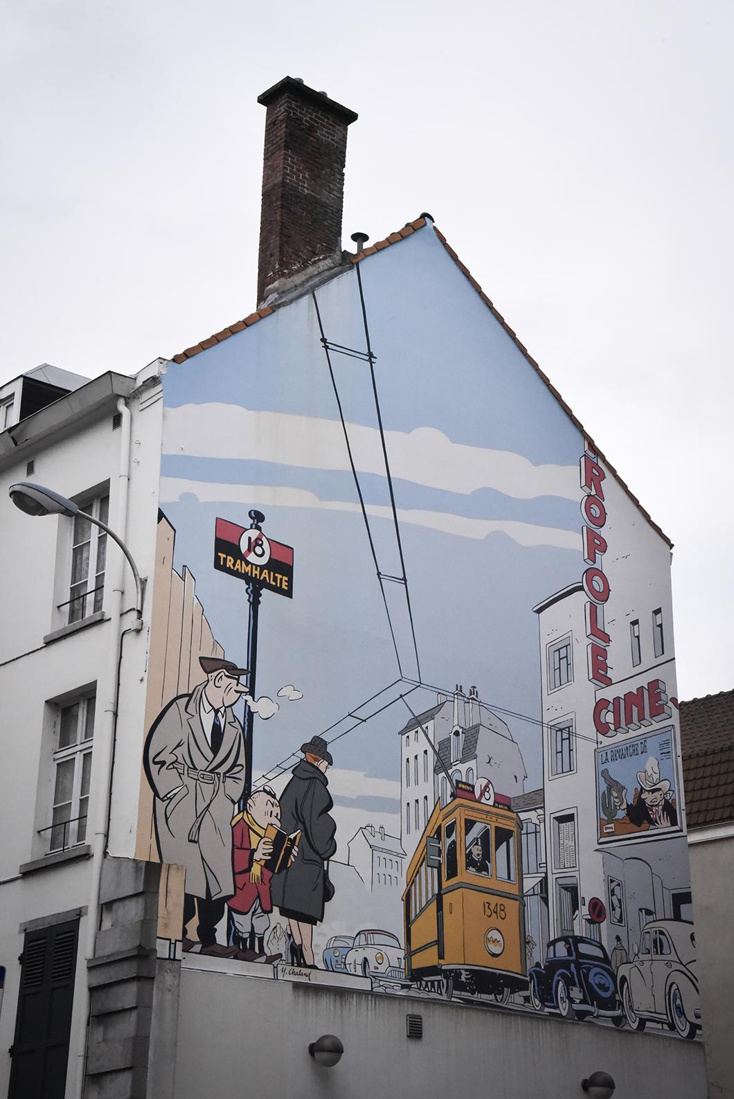 Retrouver les BD murales cachées dans Bruxelles