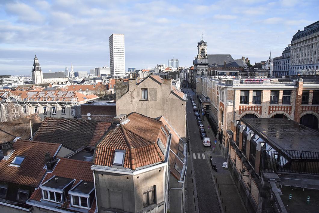 Vue sur Bruxelles - les Marolles