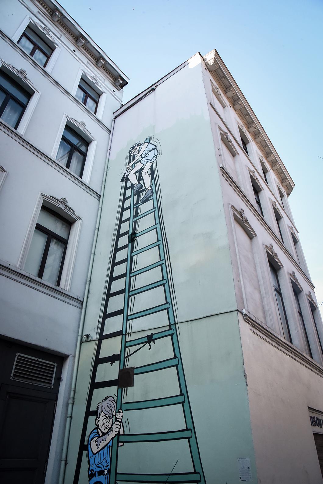 Les BD murales de Bruxelles