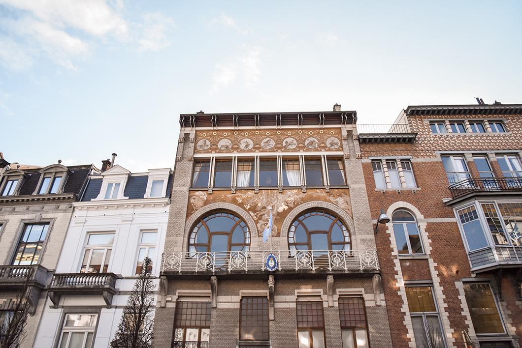 Les façades d'Art Nouveau à Bruxelles