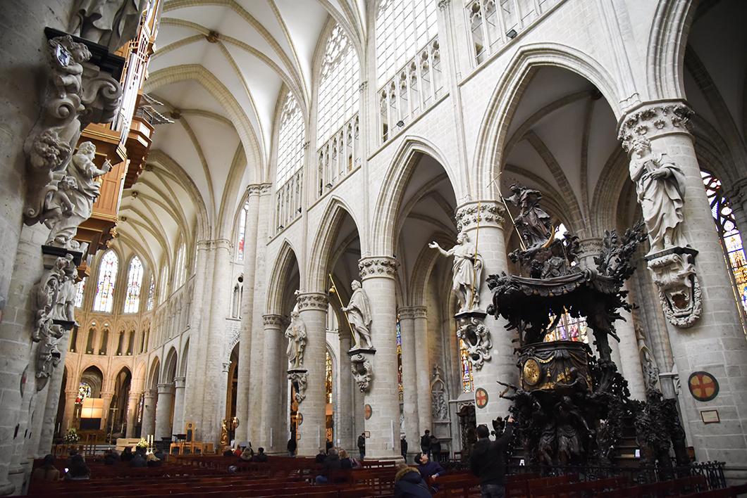 Visiter Bruxelles - Cathédrale Saints-Michel-et-Gudule