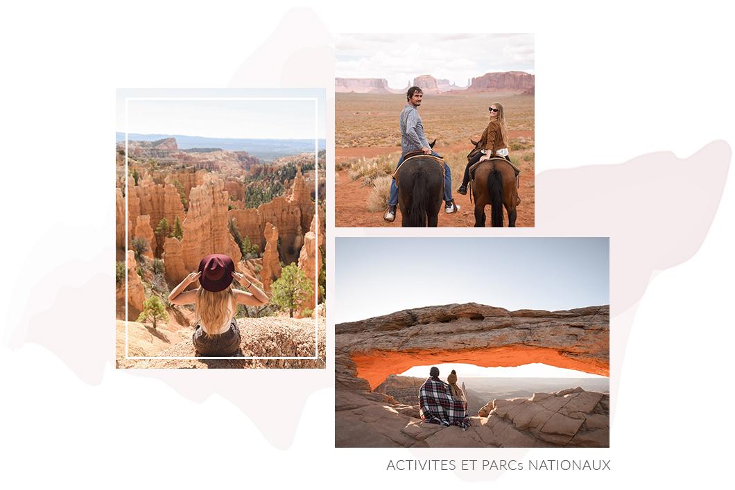 Activités et parcs nationaux aux USA
