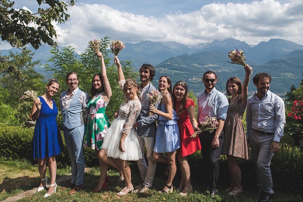 Déjeuner de mariage à la Veyrie à Bernin