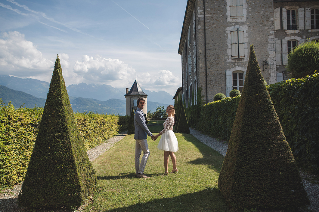 Photo de couple au Château du Touvet