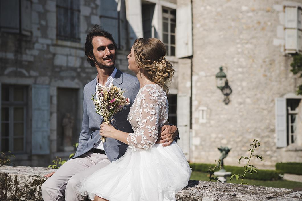 Séance de photo des mariés