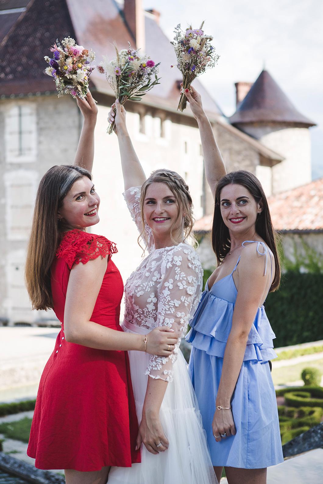 Séance photo mariée et ses demoiselles