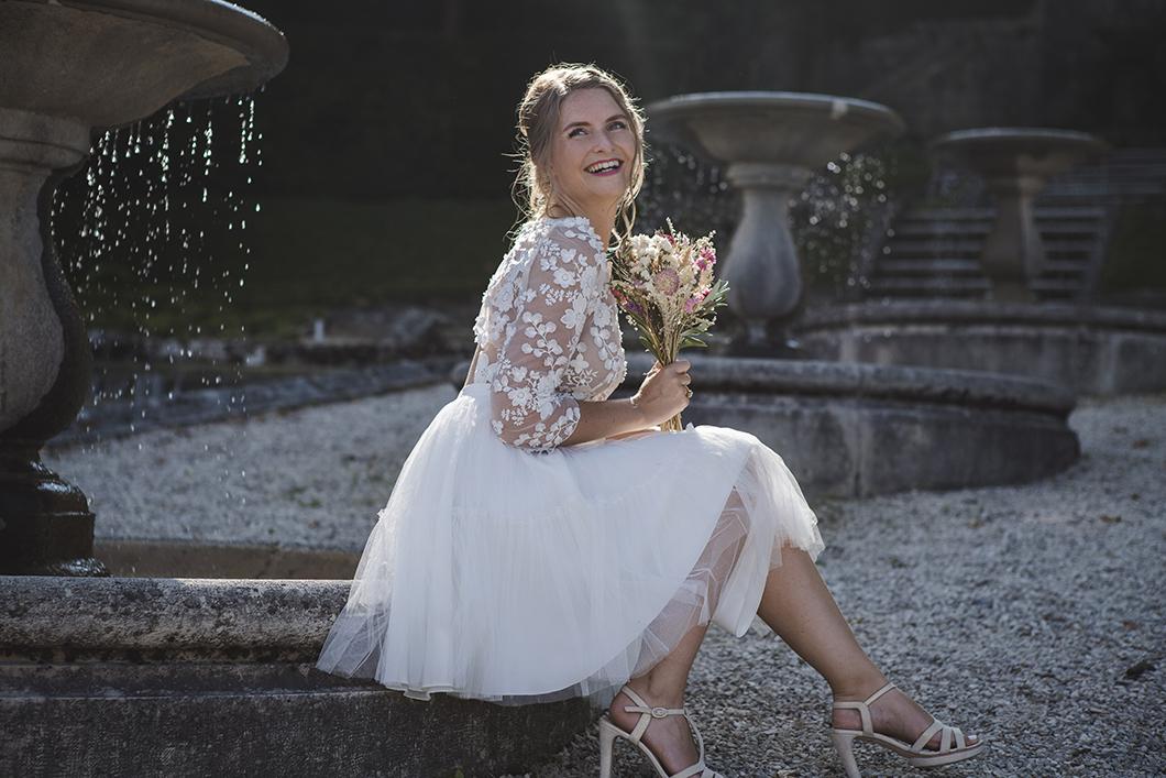 Séance photo portrait de la mariée