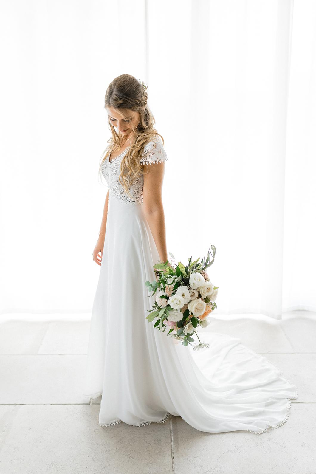 Robe de mariée bohème Fabienne Alagama