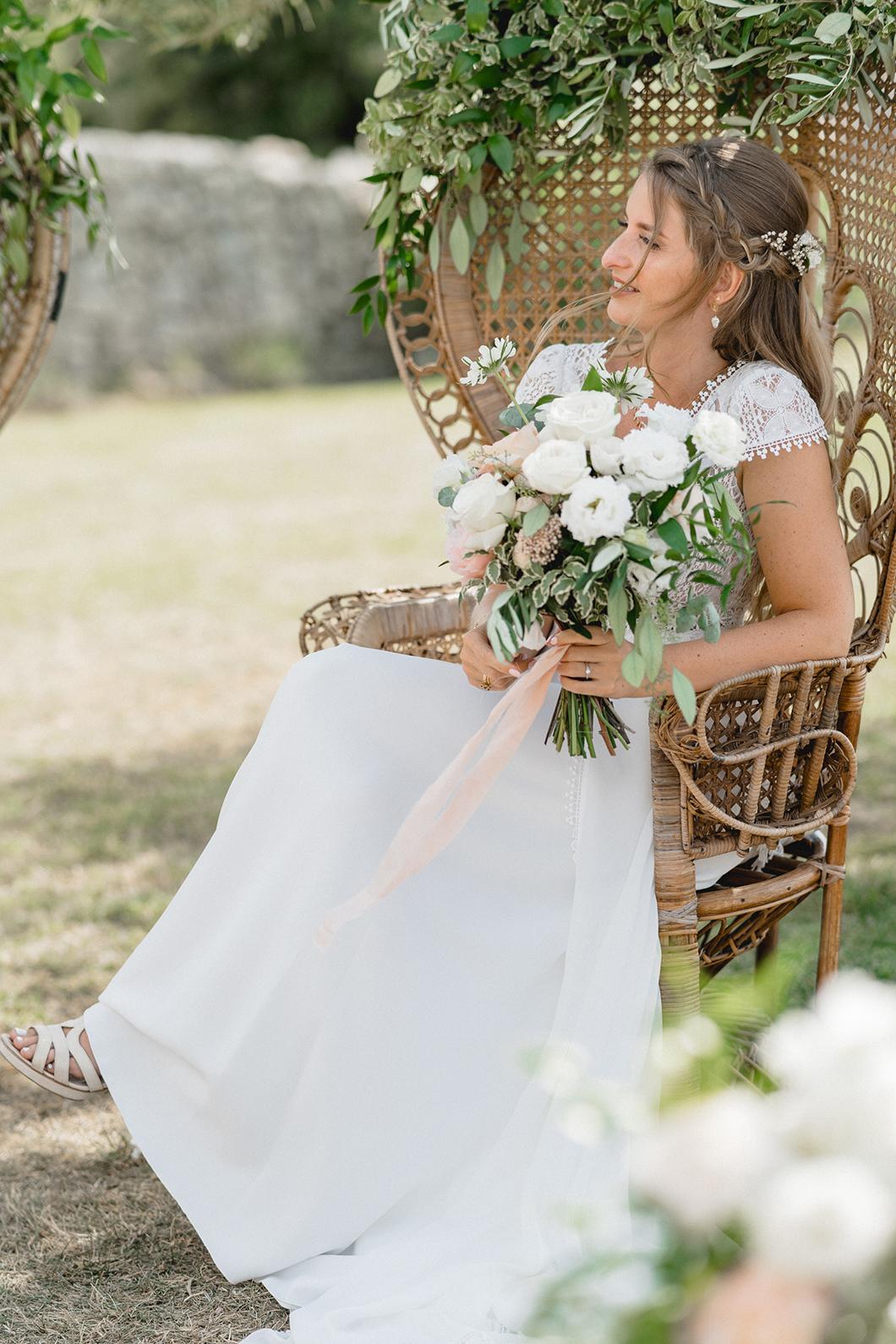La mariée à la cérémonie