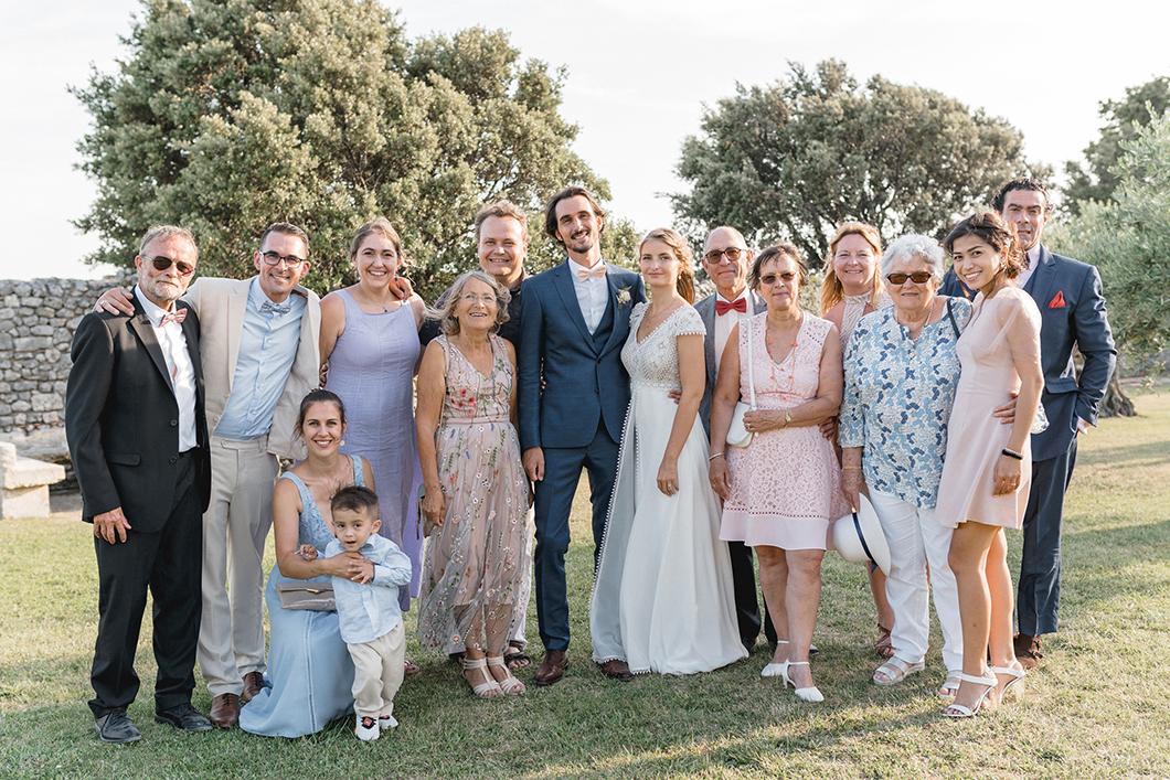 Famille des mariés