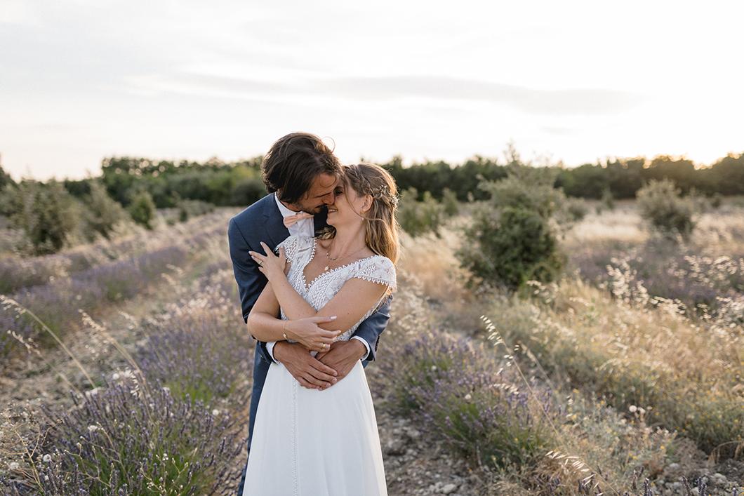 Séance photo des mariés à Grignan