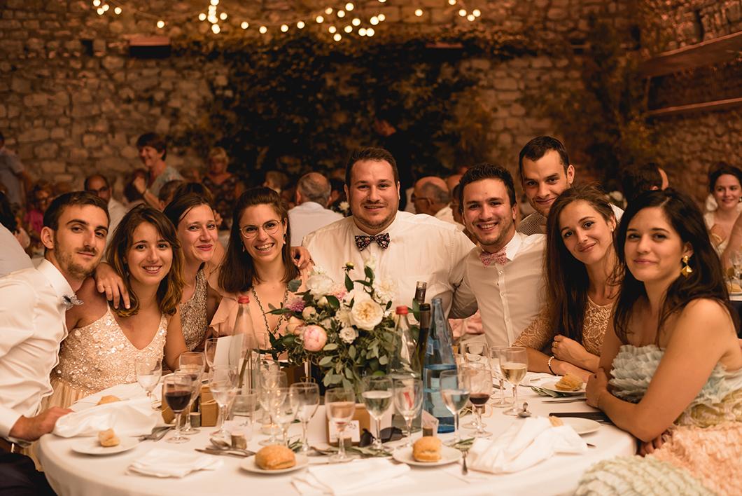 Diner de mariage en Provence