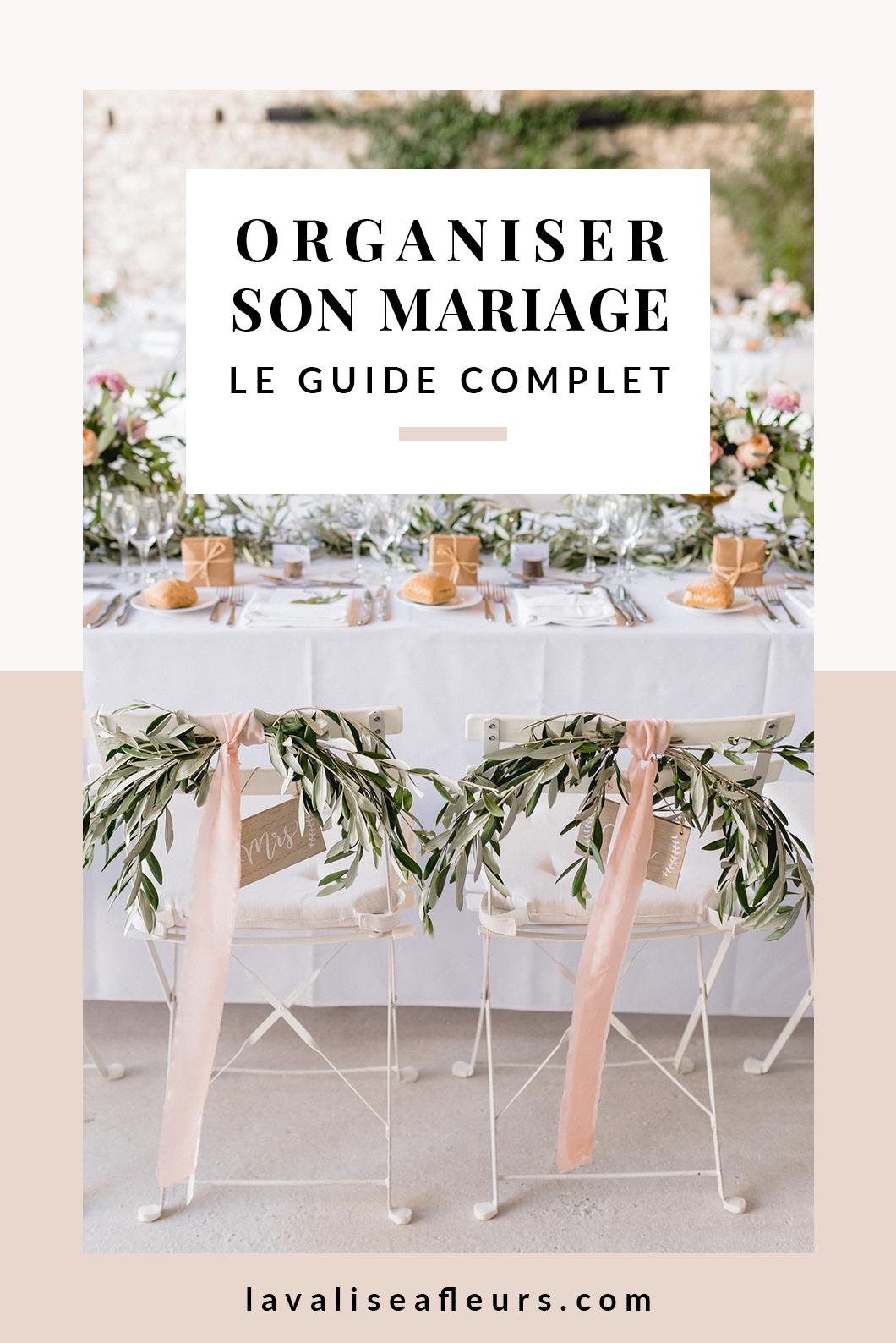 Le guide complet pour organiser son mariage