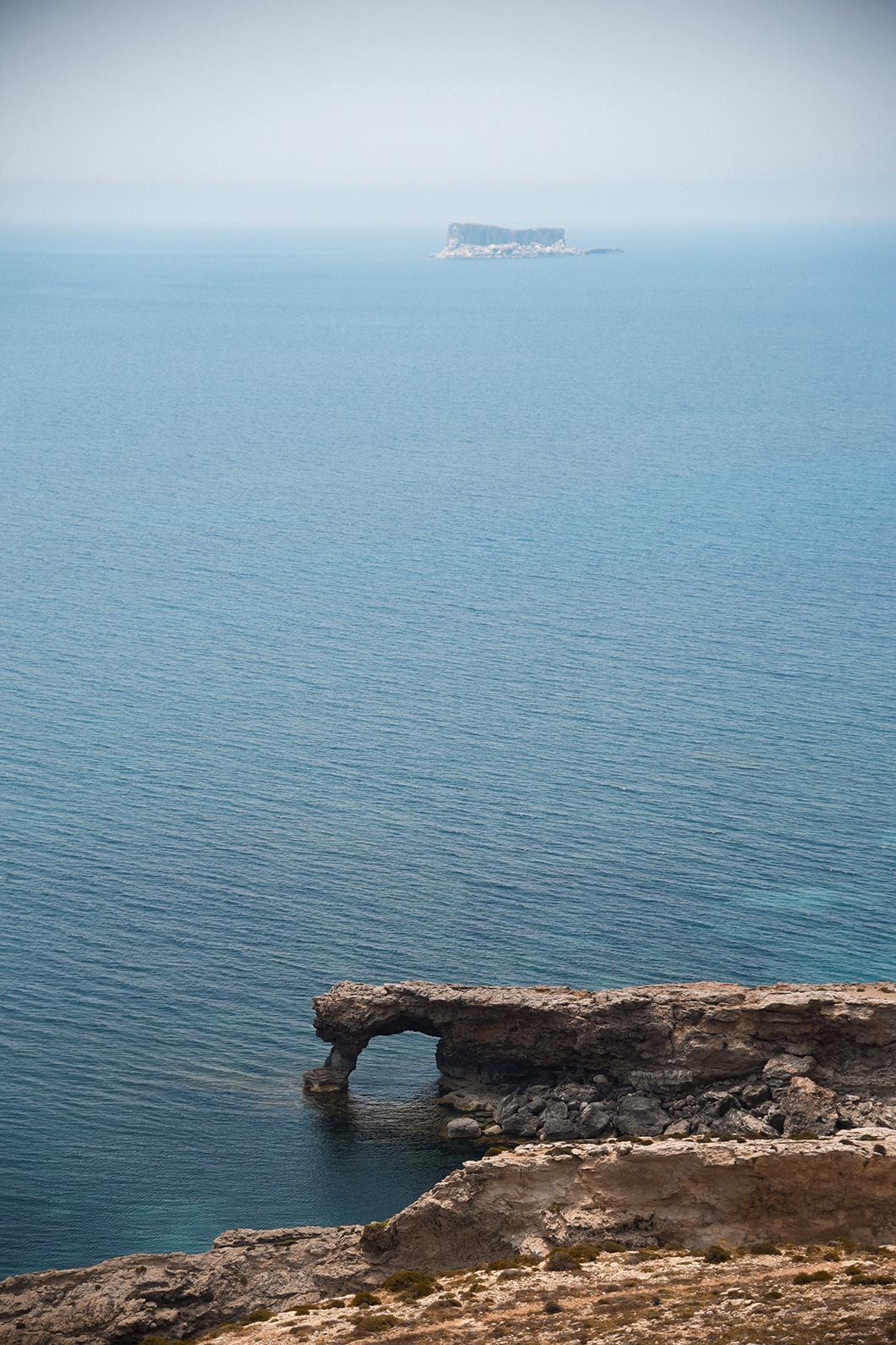 Point de vue depuis d'Hagar Qim et Minajora