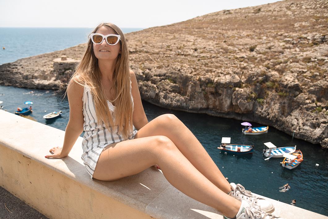 EVJF à la Blue Grotto à Malte
