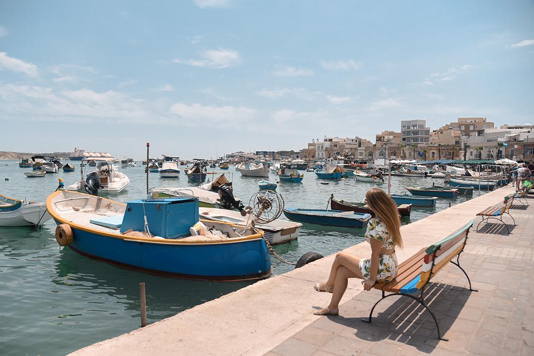 Bateaux colorés du port de Marsaxlokk