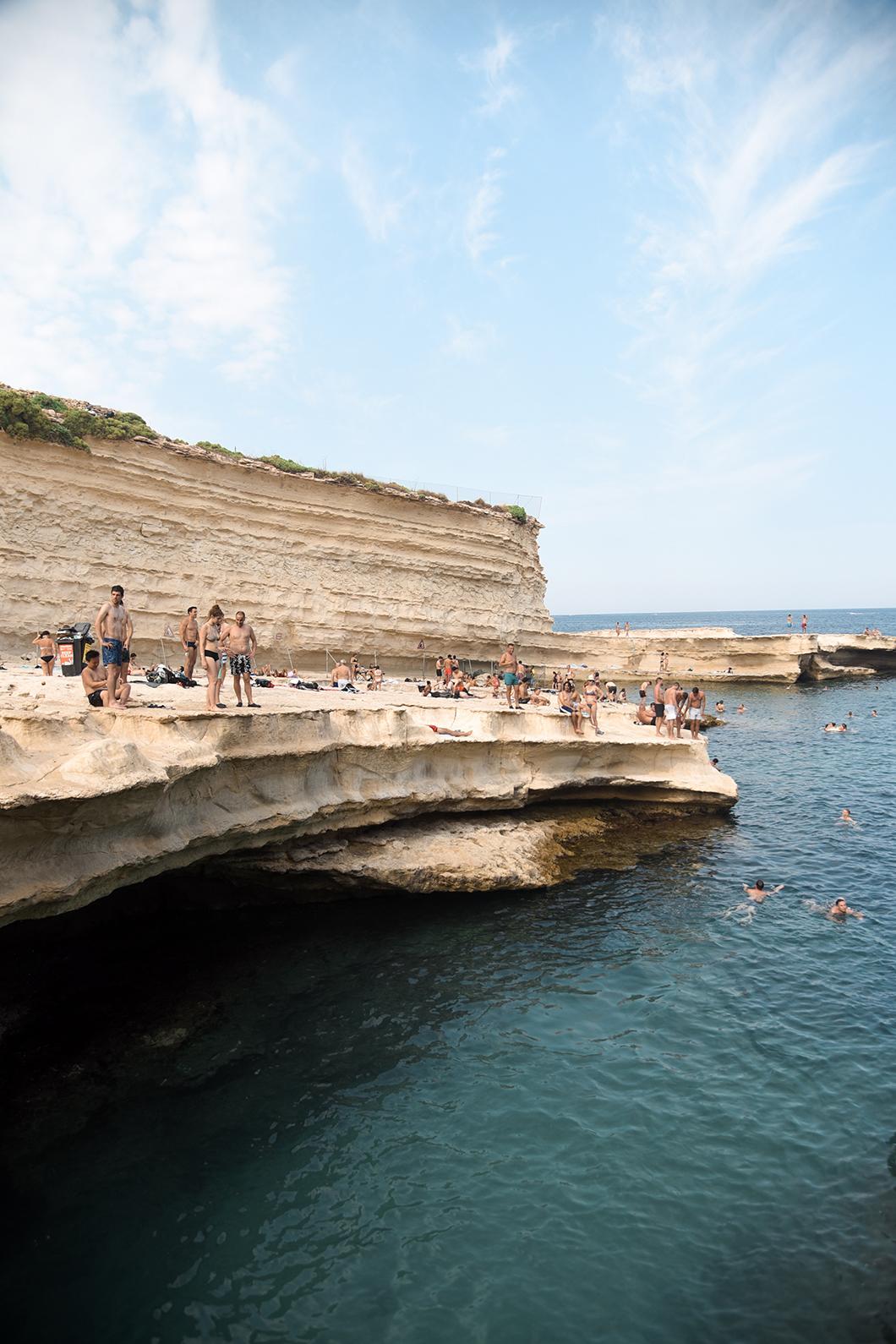 Visiter la St Peter's pool à Malte