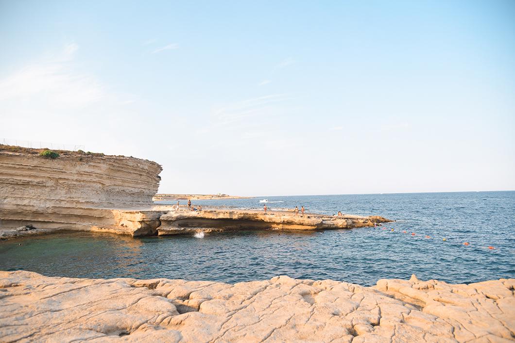 Aller à la St Peter's pool à Malte