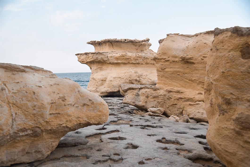 La jolie plage de St Peter's pool à Malte