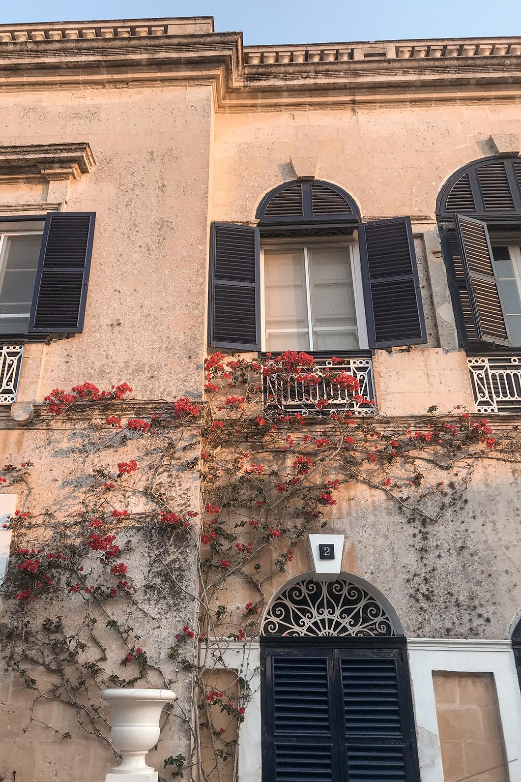 Rue fleurie de Mdina