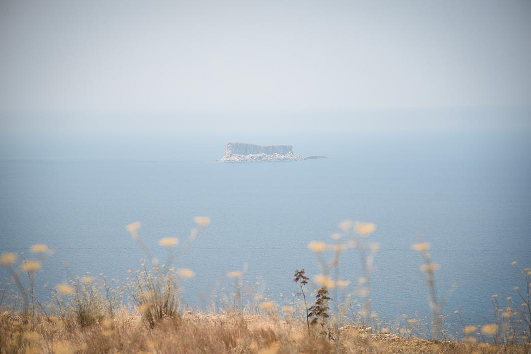 Jolie vue depuis Hagar Qim et Minajora
