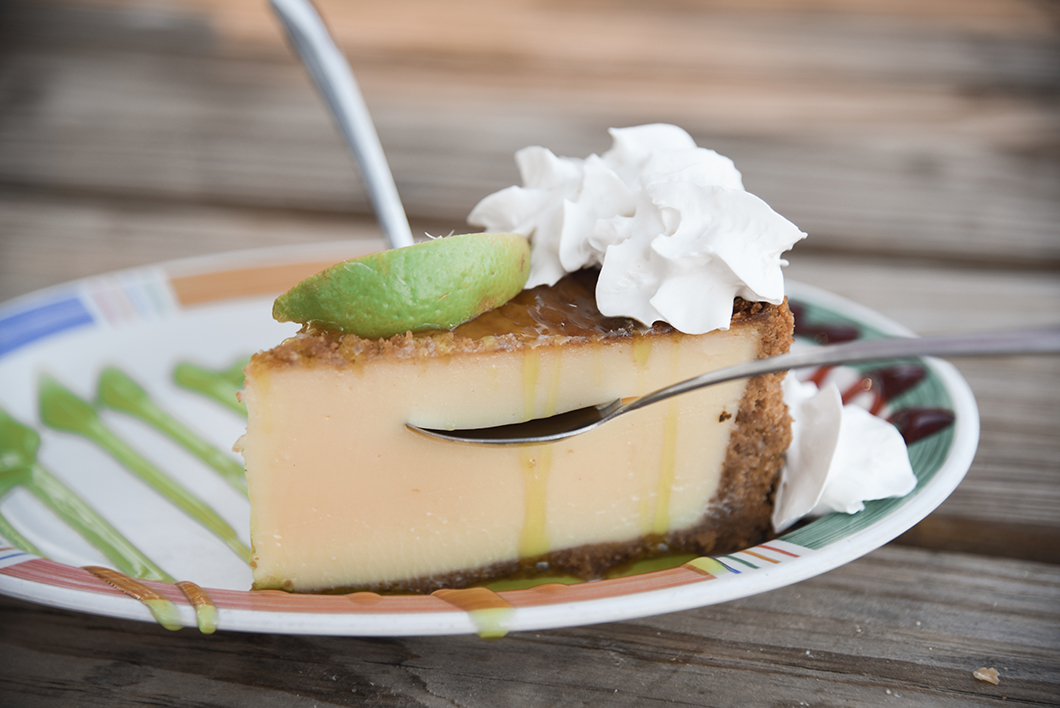 La Key lime pie du Morada Bay Beach Café