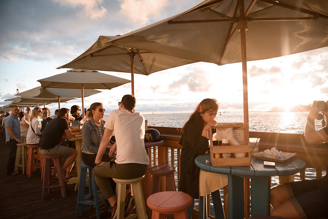 Sunset Pier, spot pour le coucher de soleil à Key West