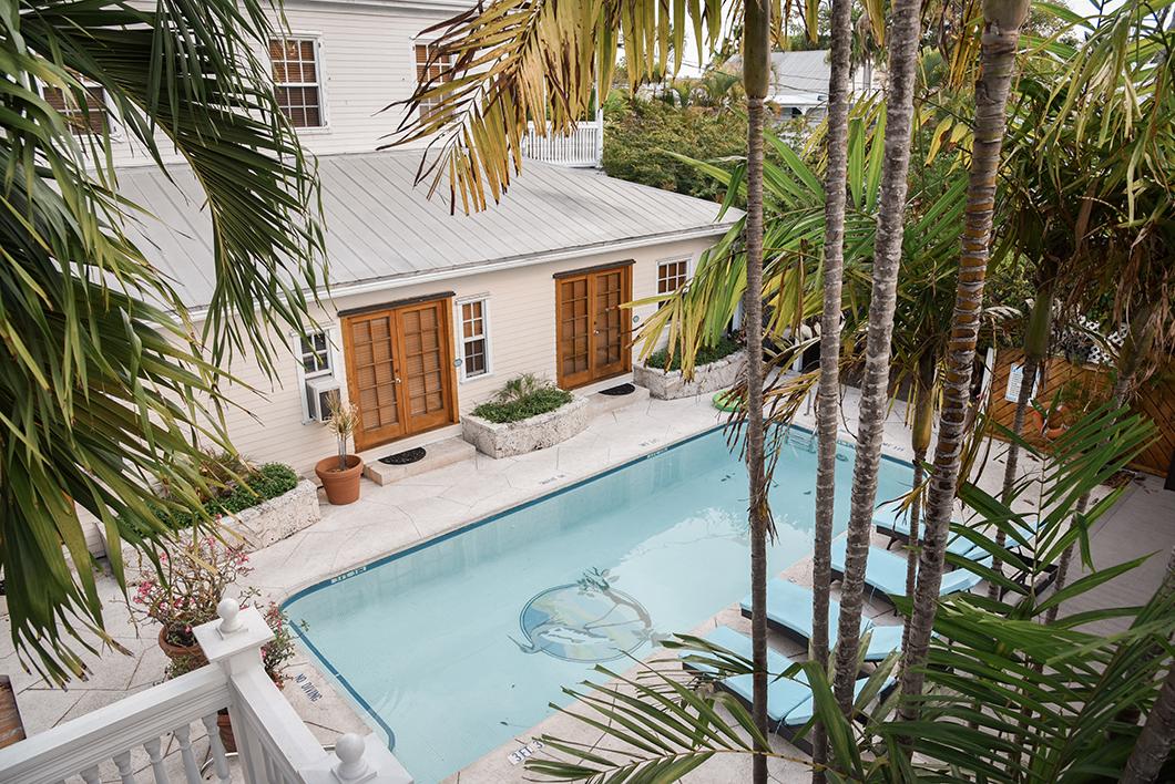La jolie piscine du Heron house hotel