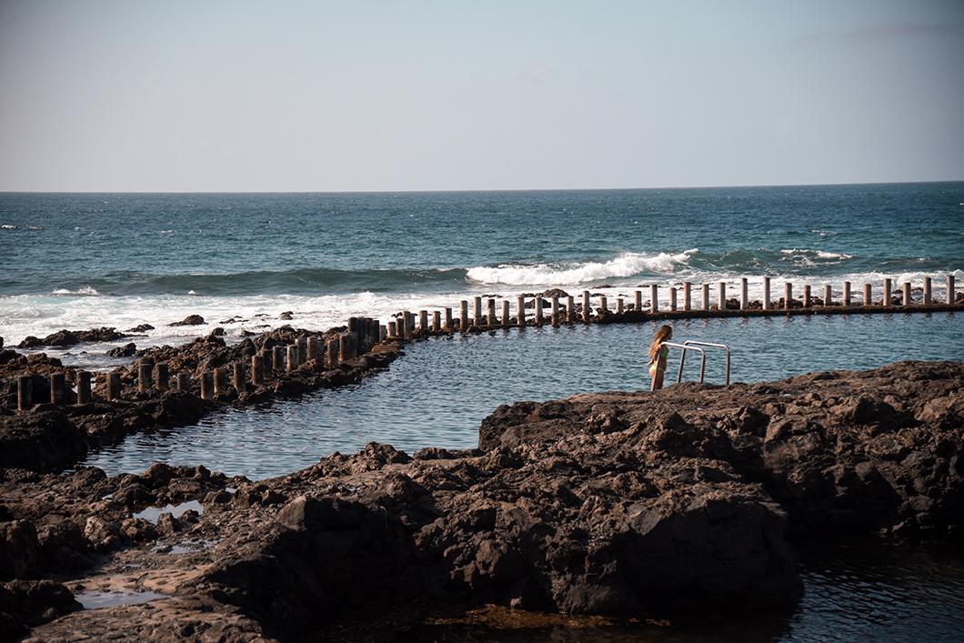 baignade à Las Salinas à Grande Canarie