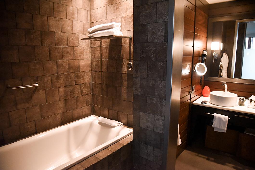 Salle de bain de l'hôtel Salobre
