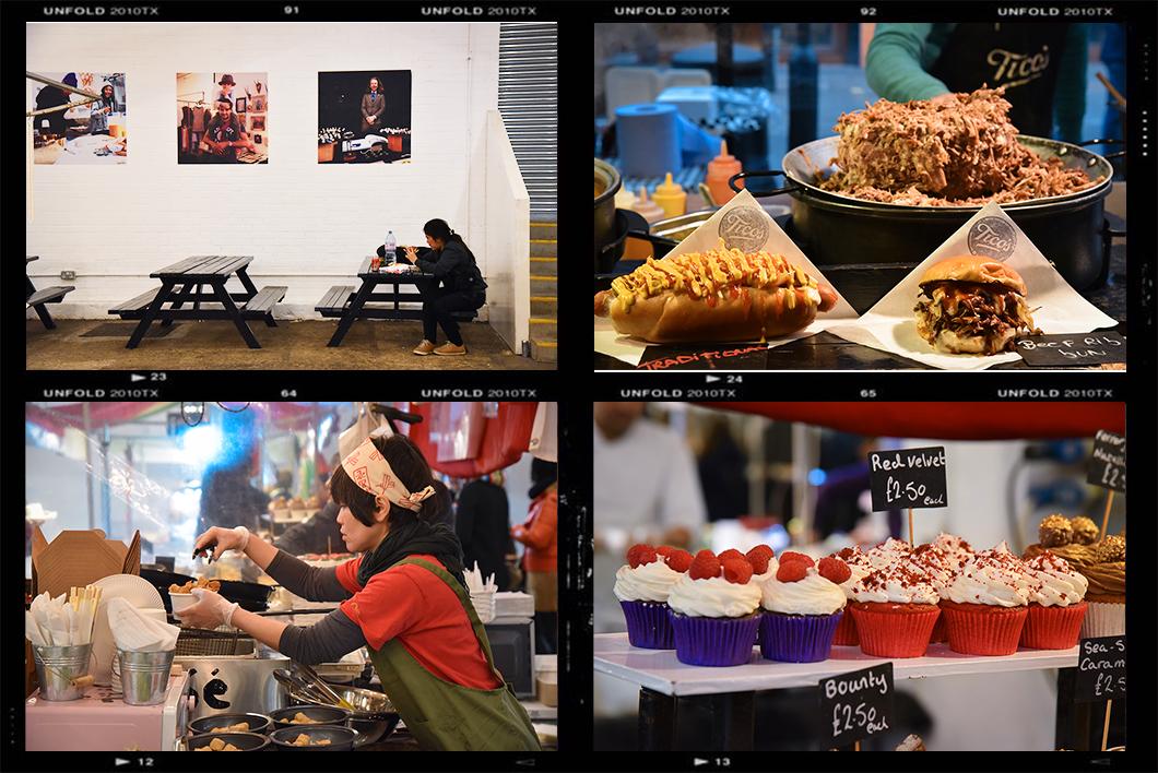 Manger au Bricklane vintage Market
