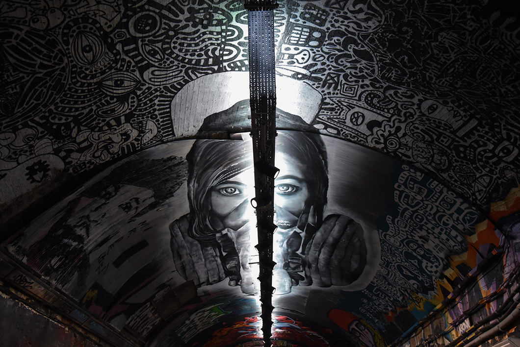 Banksy Graffiti Tunnel