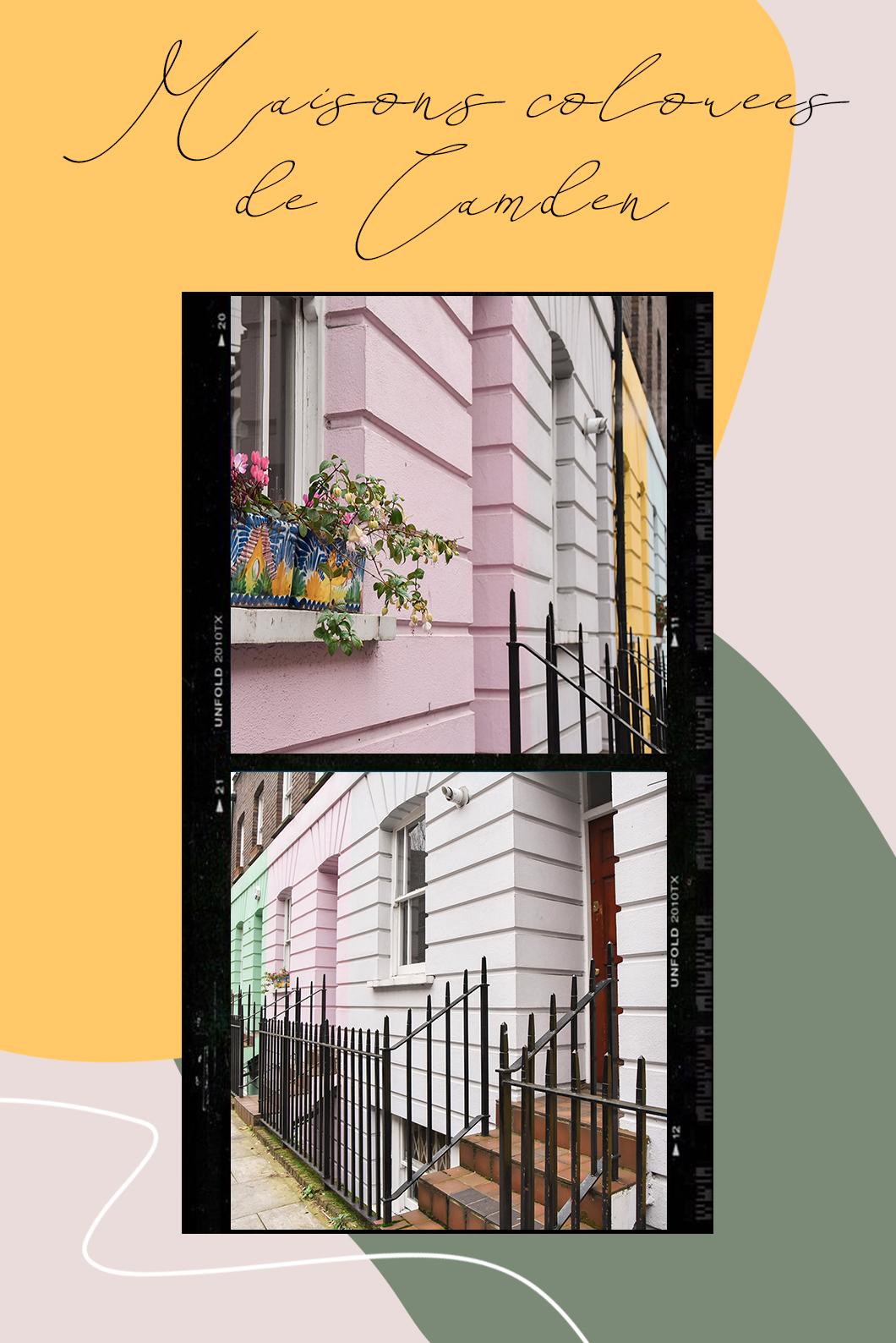 Les maisons colorées de Camden