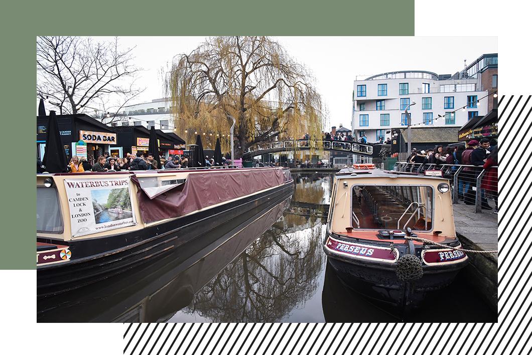 Découvrir Camden Town à bord d'une péniche, activité insolite à Londres