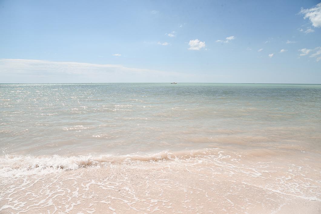 La plage de Barefoot Beach Preserve